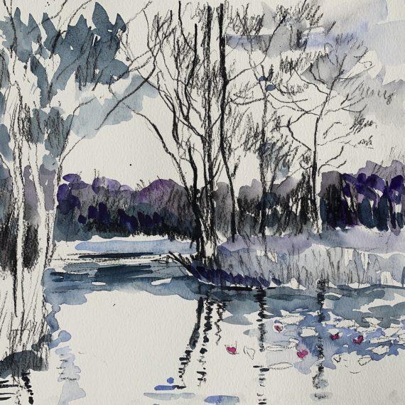 Loch Louise 28 x 32 cm