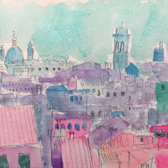 Rooftops, Venice 14.8 x 21 cm