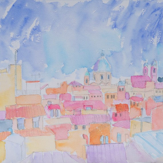Rooftops, Roma 28 x 31 cm