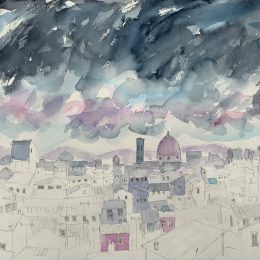 Stormy Sky over Florence 38 x 48 cm