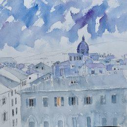 Twilight, Florence 26 x 29 cm