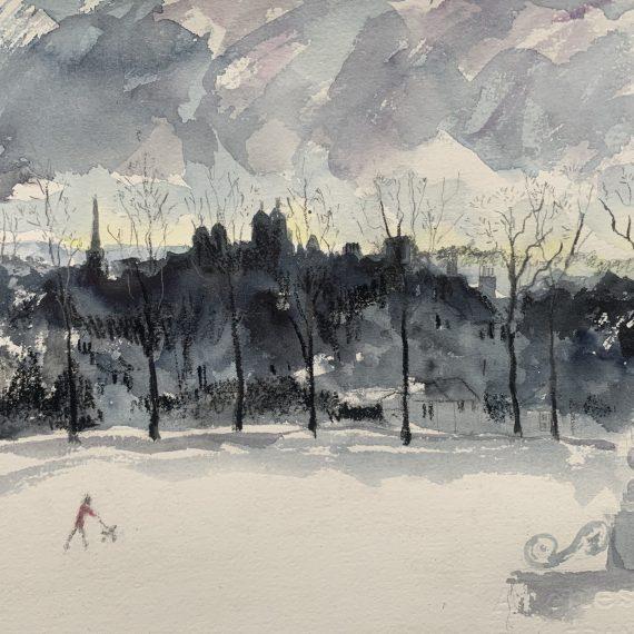 Snowy day in Edinburgh